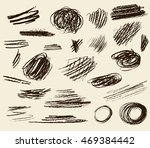 set of hand drawn scribble... | Shutterstock .eps vector #469384442