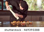 restaurant hotel private chef... | Shutterstock . vector #469393388