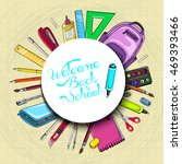 vector background with school... | Shutterstock .eps vector #469393466