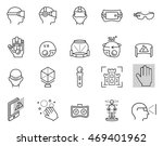 virtual reality icon set in...   Shutterstock . vector #469401962
