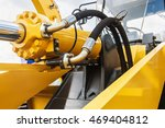 hydraulics tractor yellow.... | Shutterstock . vector #469404812