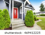 classic american house exterior ... | Shutterstock . vector #469412225