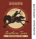 american texas cowboy rodeo... | Shutterstock . vector #469416158