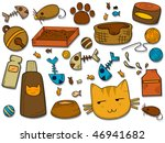 Stock vector cat icons vector 46941682
