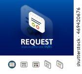 request color icon  vector...