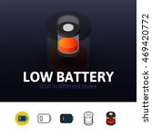 low battery color icon  vector...