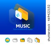 music color icon  vector symbol ...
