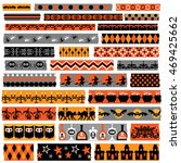 halloween clipart washi  tape | Shutterstock .eps vector #469425662