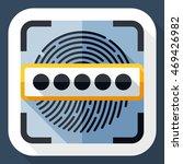 vector information security... | Shutterstock .eps vector #469426982