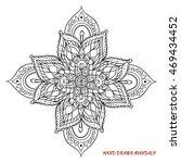 mandala vector. hand drawn... | Shutterstock .eps vector #469434452