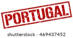 portugal stamp. red square... | Shutterstock .eps vector #469437452