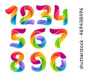 numbers set logos formed by... | Shutterstock .eps vector #469438496