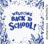 back to school  vector eps10... | Shutterstock .eps vector #469439672