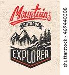 vector adventure vintage logo... | Shutterstock .eps vector #469440308