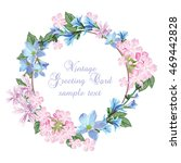 summer vintage wreath greeting... | Shutterstock .eps vector #469442828