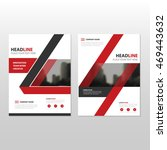 red vector annual report... | Shutterstock .eps vector #469443632