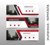 red black triangle corporate...   Shutterstock .eps vector #469443656