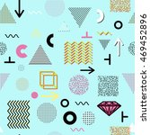trendy geometric elements... | Shutterstock .eps vector #469452896