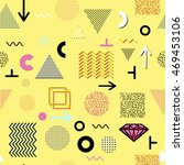 trendy geometric elements... | Shutterstock .eps vector #469453106