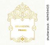 luxury ornament decor frame   Shutterstock .eps vector #469454435
