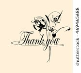 thank you   flowers | Shutterstock . vector #469465688