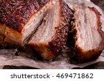 Crispy Roast Pork Belly. Slice...