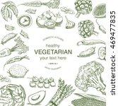 vintage drawing of vegetables... | Shutterstock .eps vector #469477835