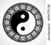yin yang symbol with ornamental ... | Shutterstock .eps vector #469479158