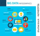 big data infographics. flat... | Shutterstock .eps vector #469485956