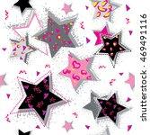 abstract seamless stars pattern ... | Shutterstock .eps vector #469491116