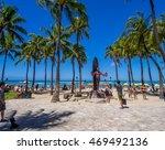 waikiki  hi   aug 3  duke... | Shutterstock . vector #469492136