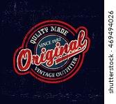 typography vintage denim brand... | Shutterstock .eps vector #469494026