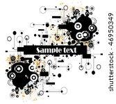hi tech background  vector | Shutterstock .eps vector #46950349