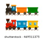 set of two trains  passenger... | Shutterstock .eps vector #469511375