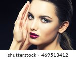 beauty fashion portrait of... | Shutterstock . vector #469513412