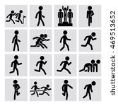 set of runner figure icons for... | Shutterstock .eps vector #469513652