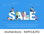 sale concept illustration of... | Shutterstock .eps vector #469516292