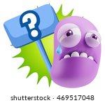 3d illustration sad character... | Shutterstock . vector #469517048