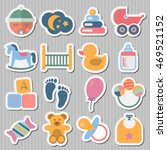 stickers baby icons | Shutterstock .eps vector #469521152
