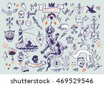 big set of hand drawn old... | Shutterstock . vector #469529546