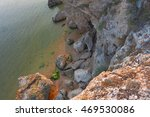 sea coastline from above view... | Shutterstock . vector #469530086
