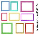 colorful frames on the white... | Shutterstock . vector #469541936