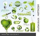 vector icons  eco   bio ii | Shutterstock .eps vector #46954264