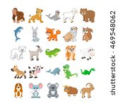 cute animals colored vector... | Shutterstock .eps vector #469548062