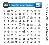 100 icons set of business and... | Shutterstock .eps vector #469554728