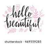 hello beautiful   vector... | Shutterstock .eps vector #469559285
