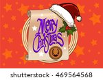 mary christmas scroll with... | Shutterstock .eps vector #469564568