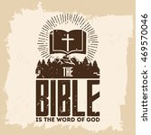 bible lettering. christian art. ... | Shutterstock .eps vector #469570046