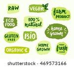 bio natural food concept. set... | Shutterstock .eps vector #469573166