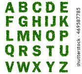 green leaf alphabet with letters | Shutterstock .eps vector #469587785